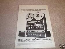ReVox 700 series AD,  A700,A720,A722 Amp,Pre  1974