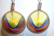 Peruvian Alpaca Silver & Handmade Dreamcatcher Thread  Earrings~NT7~uk seller
