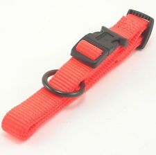 "HAMILTON ""Fits All"" Adjustable Nylon Dog Collar, Medium, Hot Orange"