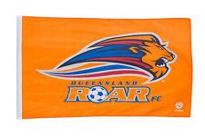 QUEENSLAND ROAR FC LOGO A-LEAGUE SOCCER LARGE POLE CAPE FLAG 90CM X 150CM