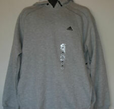 ADIDAS Varsity Fleece Drawstring Hoody Hooded Sweatshirt Heather Gray M