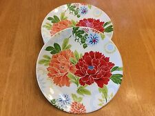 222 Fifth Dessert Plates. Huang. Set Of 4. Porcelain. Beautiful, Colorful. New.
