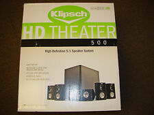 Klipsch HD Theater 500 Speaker System HD Sound for your HD TV!