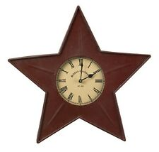 "Red Star Metal Wall Clock by Park Designs - 16"" x 16"""