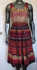 NWT WOMEN'S K STUDIO COLLECTION  MULTI-COLOR LINED DRESS WITH TIE BELT  SIZE 4
