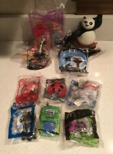 10 McDonalds & Wendy's Happy Meal Toys Lot- Kung Fu Panda Polly World ET Alvin