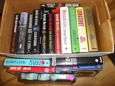 17 Hardcover Book Lot - Dick Francis JEFFREY DEAVER Robin Cook Thriller MYSTERY