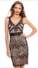 SUE WONG Black Nude Beaded Sequin Embellished GATSBY Evening  Dress 2