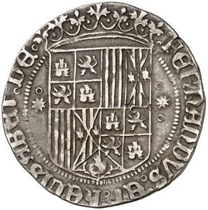 ☆ MEDIEVAL SPAIN • CATHOLIC KINGS ☆ 1 REAL • SEVILLA ☆ ISABELLA FERDINAND ☆C5785