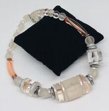 lindgr/ün /& bronze Vintage Ohrringe mit Glasperlen NEU!! altrosa pearly plum
