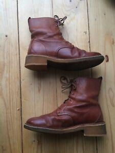"Leather Lace Up Ankle Boots ""CLARKS ORIGINALS"" Size 6 D (39)"