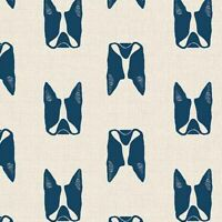 Cats & Dogs French Bulldog Andover Cotton Quilt Fabric A8965 Blue - Sarah Golden