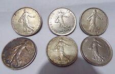 6 pièces de 5 FRANCS 1962, 1963, 1964,1966, 1970, 1973,  Roty,