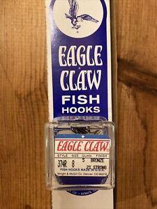 Eagle Claw 374R Size 8, 2X Treble Hooks. 10 Packs of 5 (50 Total Hooks)