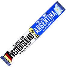 ECHARPE FINALE COUPE DU MONDE 1990 ALLEMAGNE ARGENTINE no drapeau maillot fanion