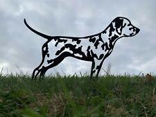 More details for dalmatian metal dog silhouette rusty garden art