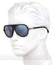 BALMAIN PARIS black & rhodium metal BL210404 Aviator Sunglasses NIB Authent $425