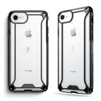 For iPhone 7 / iPhone 8 Clear Shockproof 360° Bumper TPU Cover Case Black