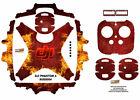 Red Fire DJI Phantom 4 P4 Skin Wrap Decal Sticker Vinyl Skinz Ultradecal