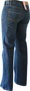 Damen Jeans Leonie von Jet-Line Fb dark blue Damenhose Denim Hüfthose blue stone