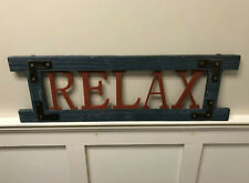 30� Relax Decorative Nautical Porch Sign New