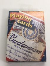 Vtg Budweiser King of Beers 2000 Anheuser-Busch Poker Playing Cards Nip Usa made