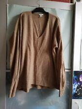 H&M womens light brown V neck long sleeve close rib knitted jumper