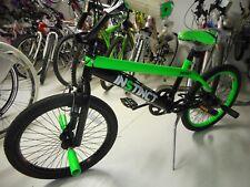 BICI BICICLETTE 20 BMX INSTINCT MBM BICI FREESTYLE VERDE E NERO