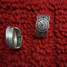 handmade filigree Miao silver ring 1piece Retro Classical elegant nice gift pure