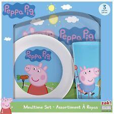 - NEW - Peppa Pig Melamine Plates 3-piece set by Zak Designs