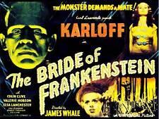 Pellicola sequel sposa Frankenstein KARLOFF horror BALENA Poster Artistico USA Stampa cc6442