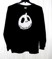 Nightmare Before Christmas Jack Skellington Sweatshirt  XL Black Sequin Face NWT
