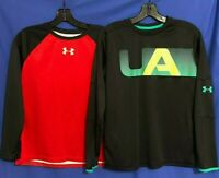 UNDER ARMOUR Boys Lot 2 UA TECH Loose Fit HEATGEAR Knit T-Shirt Multicolor YXL