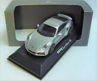 1:43 MINICHAMPS 2020 PORSCHE 911 (992) GT3 turbo S GT silver NEW DEALER PROMO !