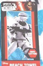 New Disney Star Wars The Force Awakens Blue Flame Trooper Beach Towel