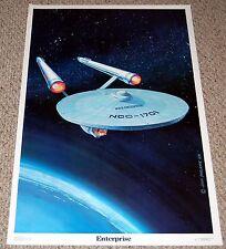 STAR TREK Enterprise NCC 1701 Poster 1976 Dargis #3435 TOS John Carlance Art