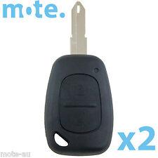 2 x Renault Vivaro Movano Master Traffic Car Key/Remote Shell/Case/Enclosure