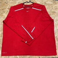 Mens Nike Therma Fit Red Sweatshirt Jumper Fleece Pullover Size 3XL XXL