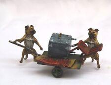 MAGNIFICENT 1900 AUSTRIAN BERGMAN BRONZE, DOGS MOVING FURNITURE SIGNED