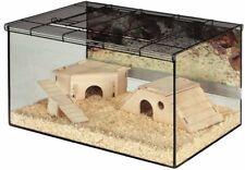 Large Hamster Glass Cage Terrarium Gerbil Small Pet Home Deep Tray Sleep + Play