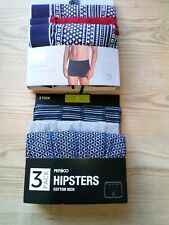 Mens Hipsters Boxer Shorts Size S. 6 Pairs