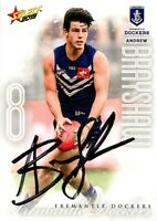 ✺Signed✺ 2019 FREMANTLE DOCKERS AFL Card ANDREW BRAYSHAW