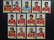 PANINI EURO 2000 Turquie/TURQUIE x 13 AUTOCOLLANTS