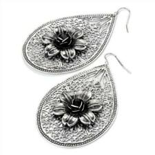 Alloy Statement Oval Costume Earrings