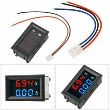 DC 0-100V 10A Voltmeter Ammeter Blue + Red LED Dual Digital Volt Amp Meter Gauge