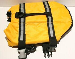 Reflective Dog Life Preserver Jacket w/Handle - Pink XS or Yellow SM