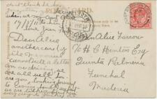 GB DESTINATIONS MADEIRA FUNCHAL 1911 EVII 1D HARRISON PRINTING WEST-BROMPTON-S.O
