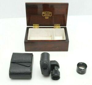 """Carl Zeiss Jena Turmon 8 X 21 Folding Monocular """"Spy Glass"""" with Case from Japan"""
