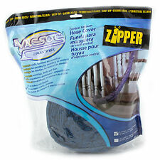 30' Vacsoc Central Vacuum Padded Hose Cover with Zipper Blue