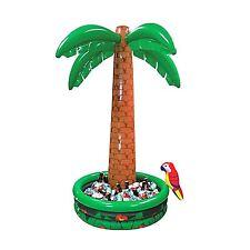 6ft Tropical Luau Hawaiian Party Jumbo Palm Tree Pool Inflatable Drinks Cooler